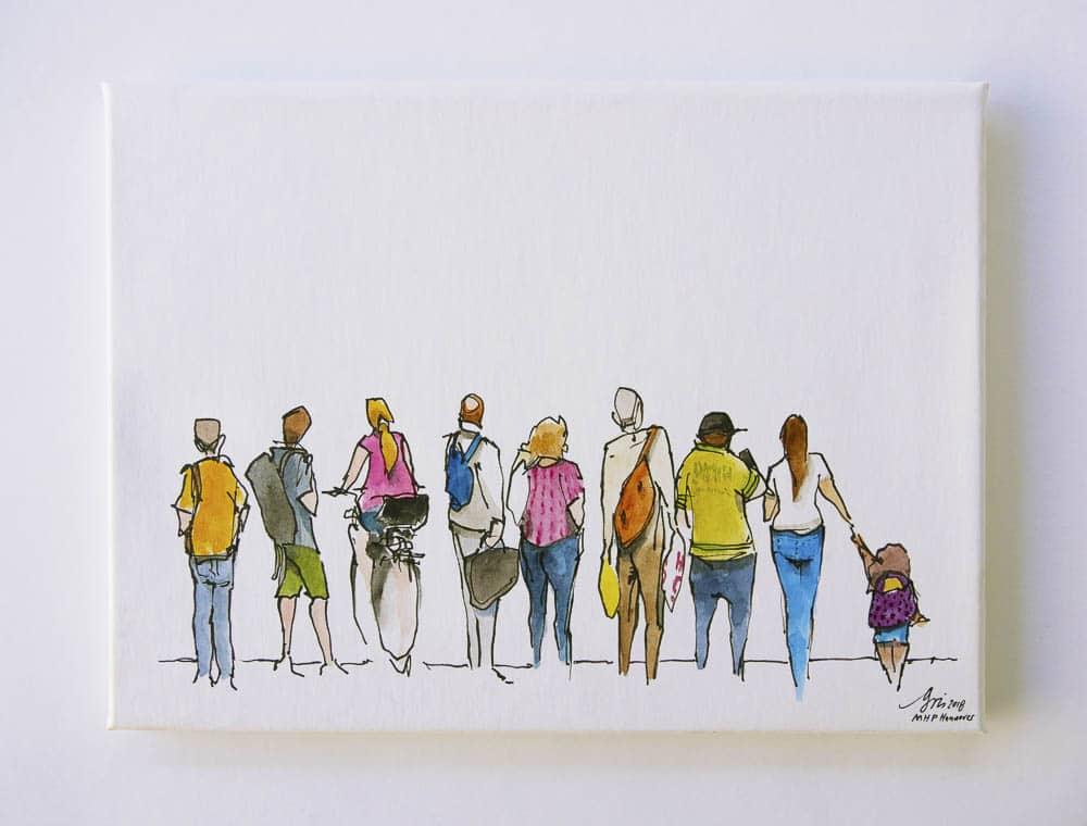 "Aqua Canvas ""People"" by Gris030"