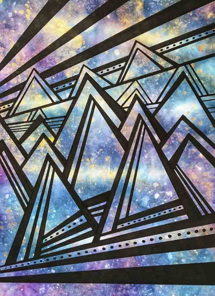 "Aqua Canvas Malerei, Material Mix, ""The Sky"" von kparkdesign"