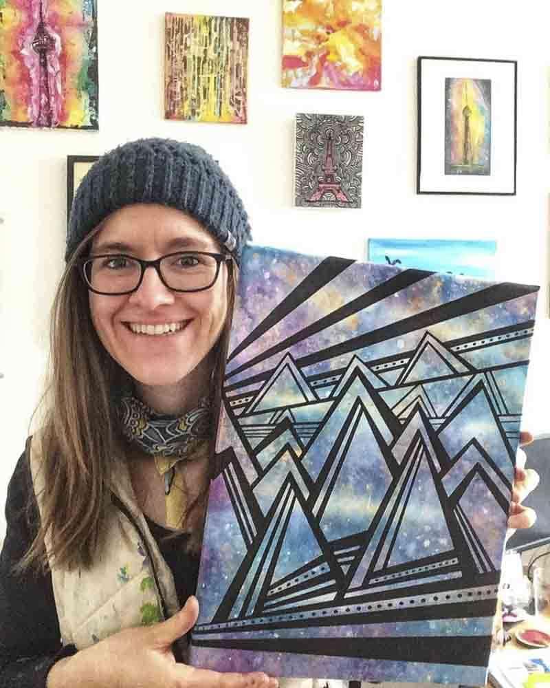 Aqua Canvas Künstlerin Kparkdesign