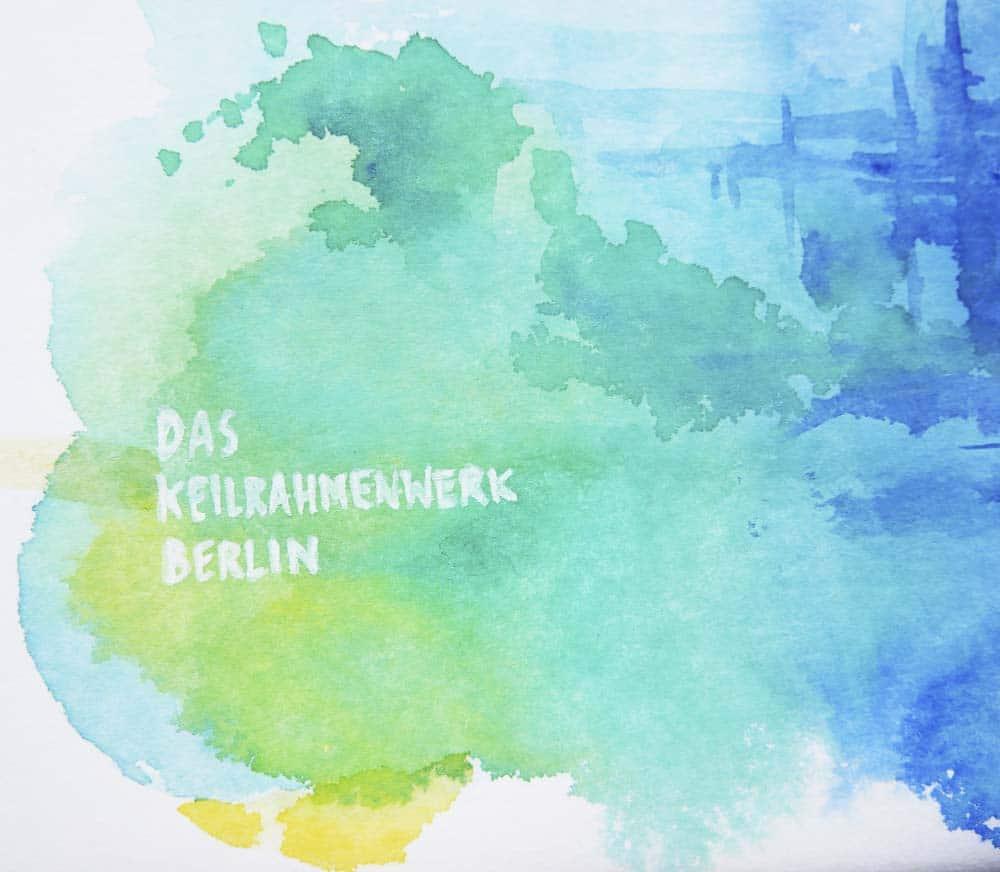 Wasserfarben auf einer Leinwand von Das Keilrahmen Werk
