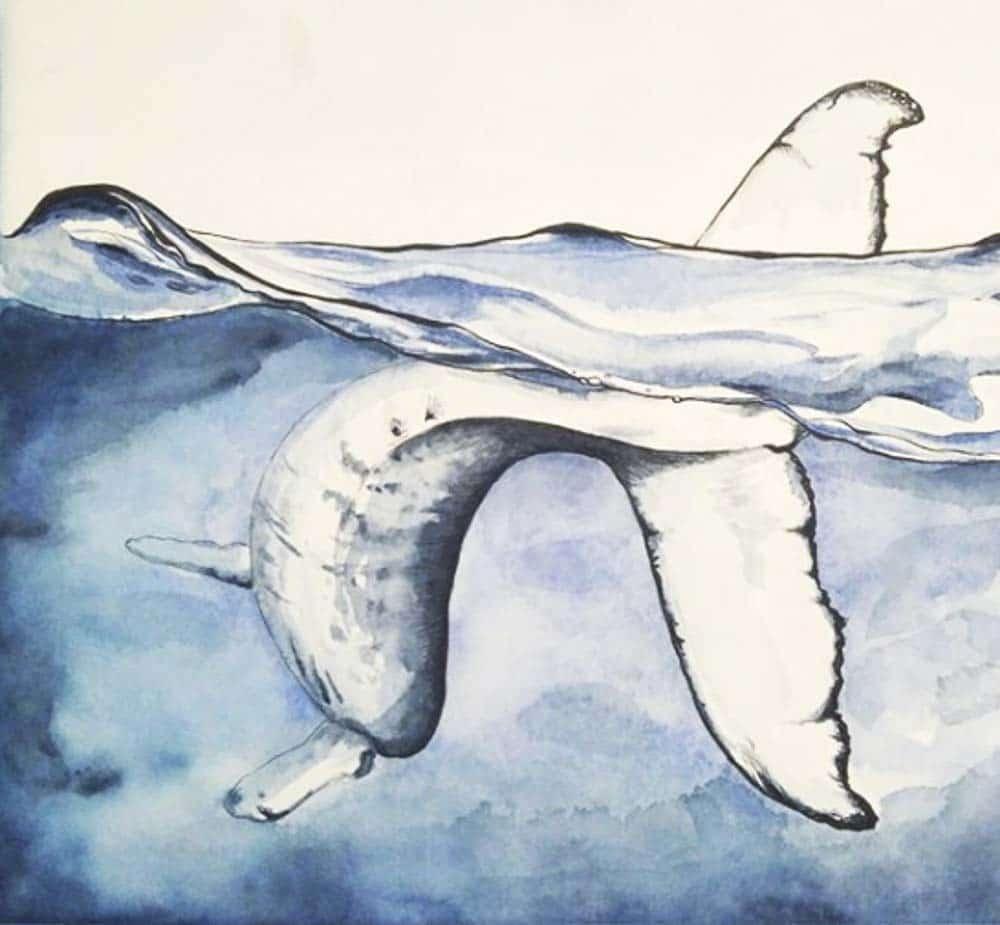 Aqua Keilrahmen Anwendungsbeispiel mit Aquarell von Leonie Pfeiffer