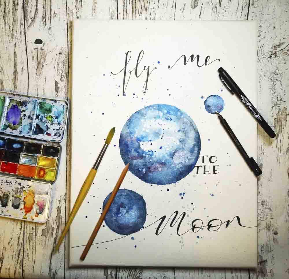 Lettering und Aquarell Malerei von Wiebke Blesse